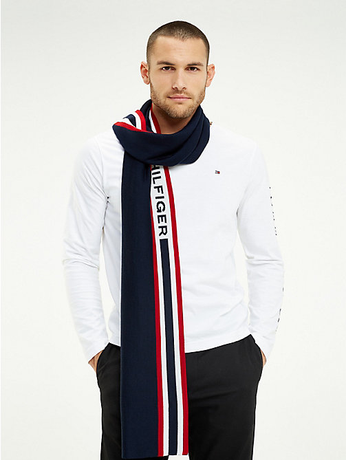 TOMMY HILFIGER Logo Wool Blend Scarf - CORPORATE - TOMMY HILFIGER Scarves - main image