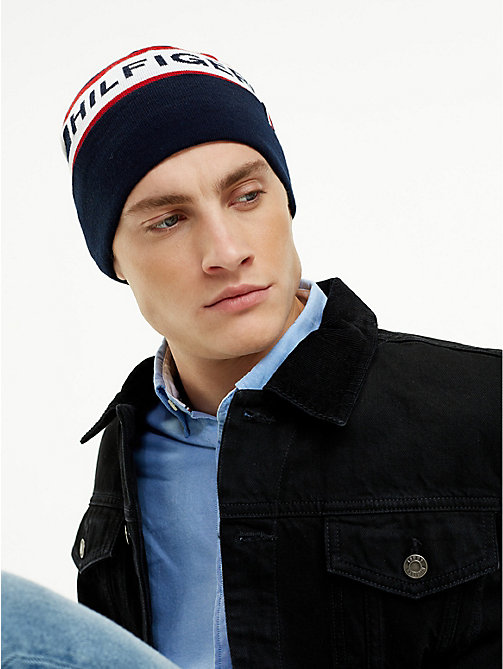 TOMMY HILFIGER Logo Wool Blend Beanie - CORPORATE - TOMMY HILFIGER Caps & Beanies - detail image 1
