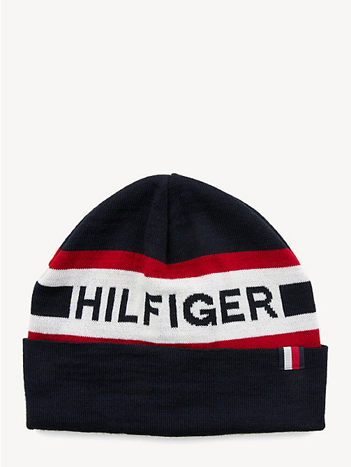 TOMMY HILFIGER Logo Wool Blend Beanie - CORPORATE - TOMMY HILFIGER NEW IN - main image