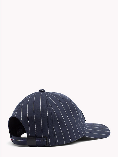 TOMMY HILFIGER Logo Patch Baseball Cap - PIN STRIPES - TOMMY HILFIGER Caps & Beanies - detail image 1