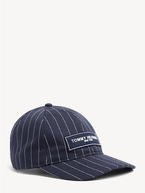 TOMMY HILFIGER Logo Patch Baseball Cap - PIN STRIPES - TOMMY HILFIGER NEW IN - main image