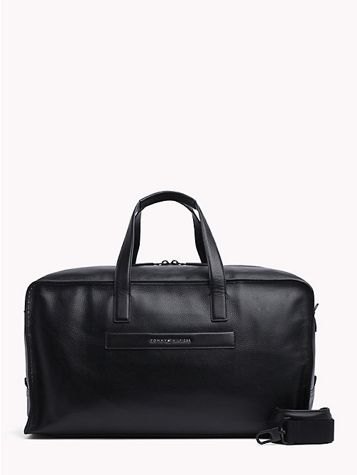 TOMMY HILFIGER Elevated Leather Weekend Bag - BLACK - TOMMY HILFIGER Bags & Accessories - main image