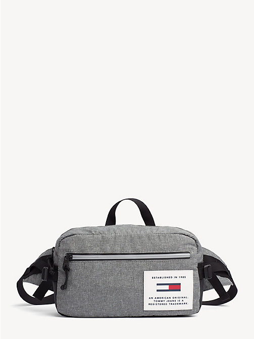 TOMMY JEANS TH Tech Reflective Crossbody Bag - LT GREY HTR - TOMMY JEANS Crossbody Bags - main image
