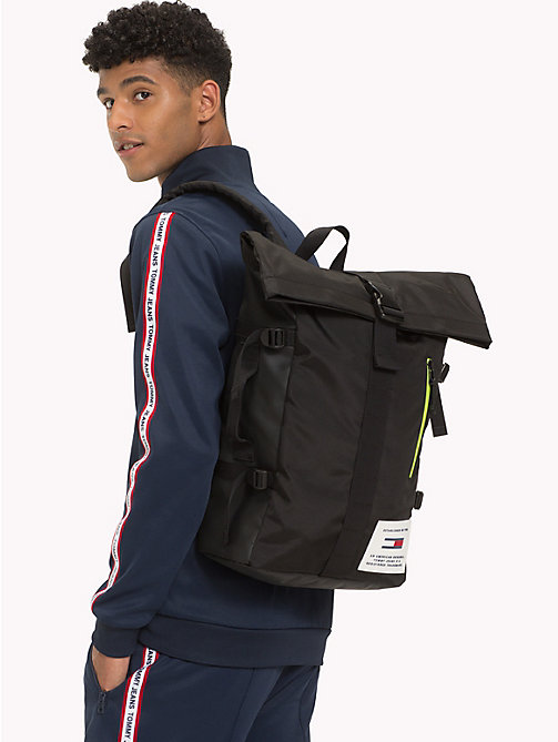 TOMMY JEANS TH Tech Neon Roll Backpack - BLACK - TOMMY JEANS NEW IN - detail image 1