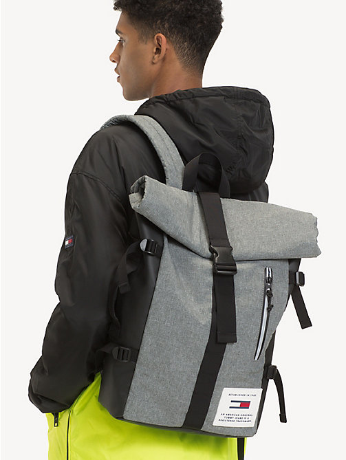 TOMMY JEANS TH Tech Roll Backpack - LT GREY HTR - TOMMY JEANS Backpacks - detail image 1