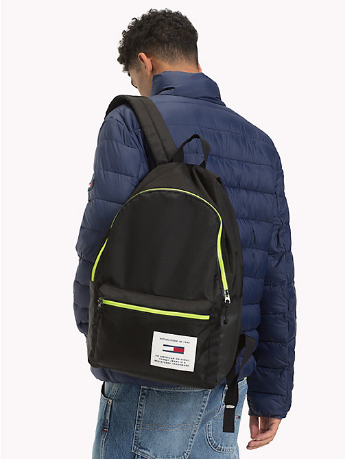 TOMMY JEANS TH Tech Neon Trim Dome Backpack - BLACK - TOMMY JEANS NEW IN - detail image 1