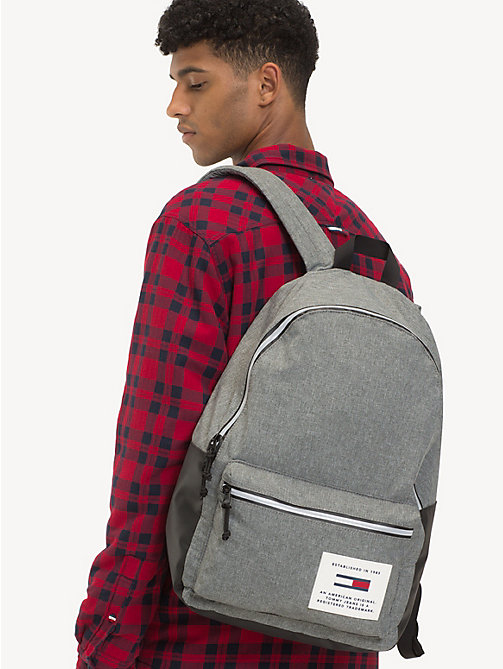 TOMMY JEANS TH Tech rugzak - LT GREY HTR - TOMMY JEANS Rugzakken - detail image 1