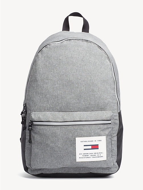 TOMMY JEANS TH Tech Dome Backpack - LT GREY HTR - TOMMY JEANS Backpacks - main image