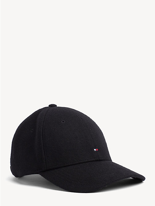 TOMMY HILFIGER Melton Wool Baseball Cap - BLACK - TOMMY HILFIGER Caps & Beanies - main image