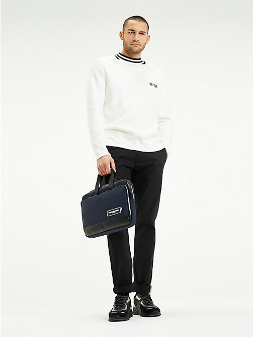 TOMMY HILFIGER Sacoche mince pour ordinateur écusson TH - TOMMY NAVY / BLACK - TOMMY HILFIGER Porte-documents - image détaillée 1