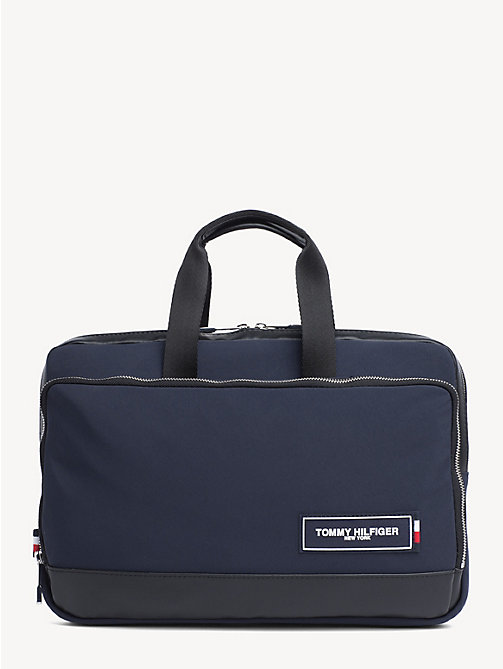 TOMMY HILFIGER Sacoche mince pour ordinateur écusson TH - TOMMY NAVY / BLACK - TOMMY HILFIGER Porte-documents - image principale