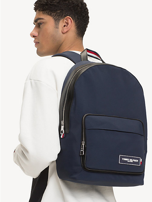 TOMMY HILFIGER TH Patch Dome Backpack - TOMMY NAVY / BLACK - TOMMY HILFIGER Backpacks - detail image 1