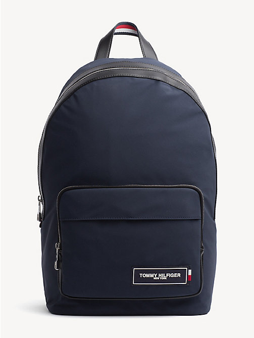 TOMMY HILFIGER TH Patch Dome Backpack - TOMMY NAVY / BLACK - TOMMY HILFIGER Backpacks - main image