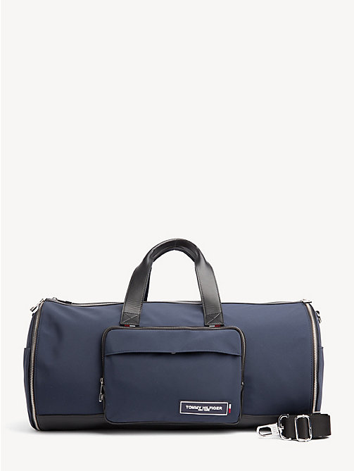 New Tommy Hilfiger Th Patch Convertible Weekend Bag Navy Black Duffle