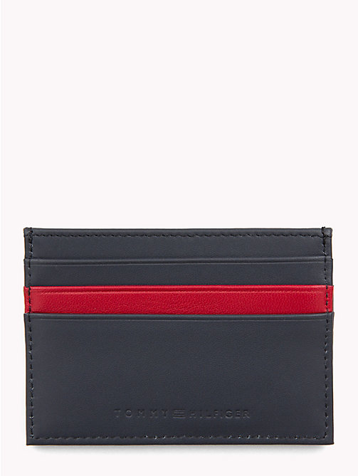 TOMMY HILFIGER TH Embossed Card Holder - TOMMY NAVY/ TOMMY RED - TOMMY HILFIGER Wallets & Keyrings - detail image 1