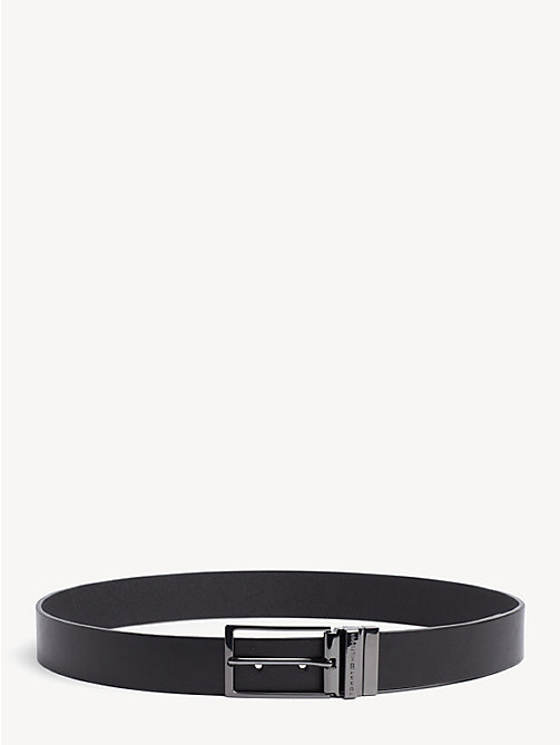 TOMMY HILFIGER Reversible Leather Belt - BLACK/BLACK - TOMMY HILFIGER Belts - main image