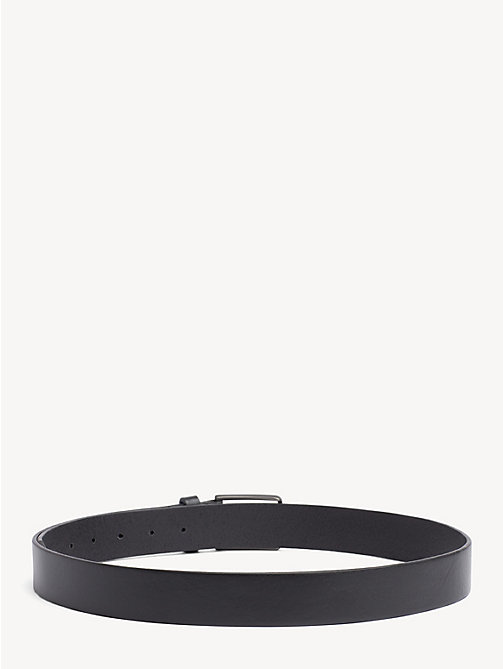 TOMMY HILFIGER Textured Leather Belt - BLACK - TOMMY HILFIGER Belts - detail image 1