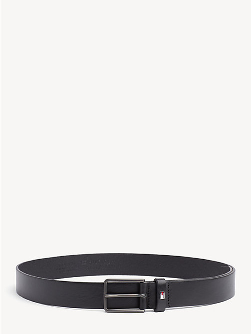 TOMMY HILFIGER Textured Leather Belt - BLACK - TOMMY HILFIGER Belts - main image