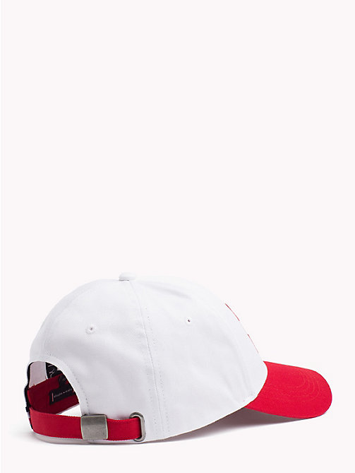 TOMMY HILFIGER Monogram Baseball Cap - BRIGHT WHITE/RED - TOMMY HILFIGER NEW IN - detail image 1