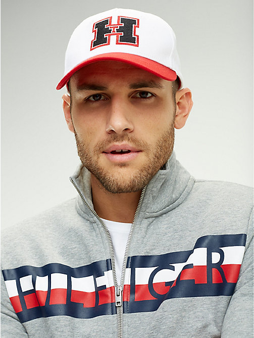TOMMY HILFIGER Monogram Baseball Cap - BRIGHT WHITE/RED - TOMMY HILFIGER Caps & Beanies - detail image 1