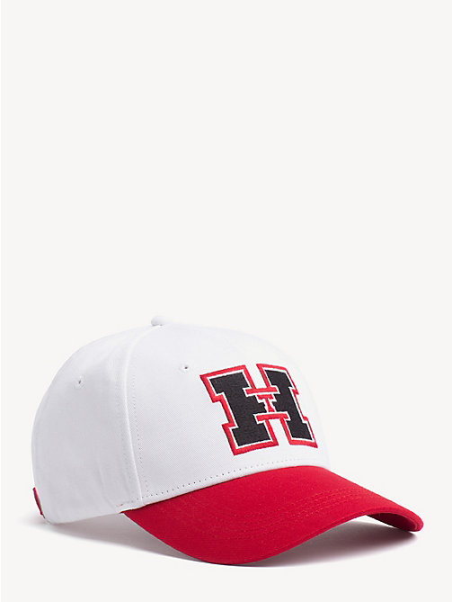 TOMMY HILFIGER Monogram Baseball Cap - BRIGHT WHITE / RED - TOMMY HILFIGER NEW IN - main image