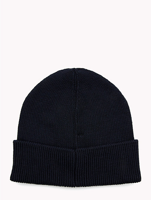 TOMMY HILFIGER Wool Blend Beanie - EVENING BLUE - TOMMY HILFIGER NEW IN - detail image 1