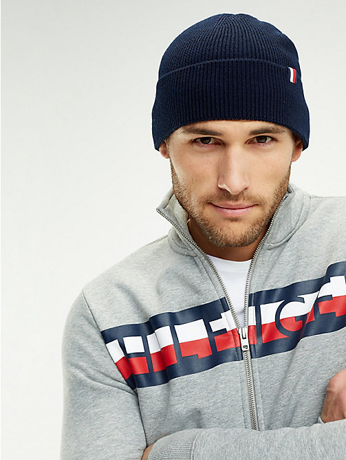 TOMMY HILFIGER Wool Blend Beanie - EVENING BLUE - TOMMY HILFIGER Caps & Beanies - detail image 1