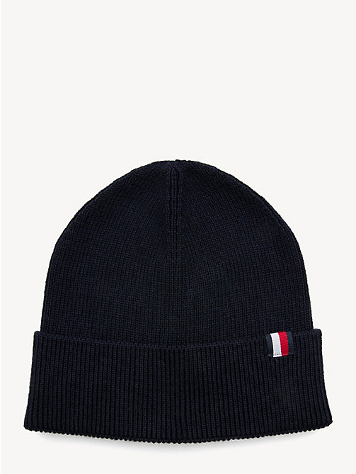 TOMMY HILFIGER Wool Blend Beanie - EVENING BLUE - TOMMY HILFIGER Caps & Beanies - main image