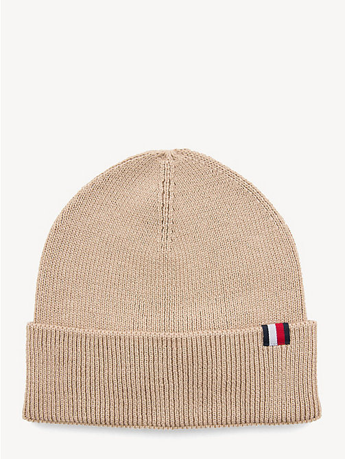 TOMMY HILFIGER Wool Blend Beanie - HUMUS - TOMMY HILFIGER NEW IN - main image