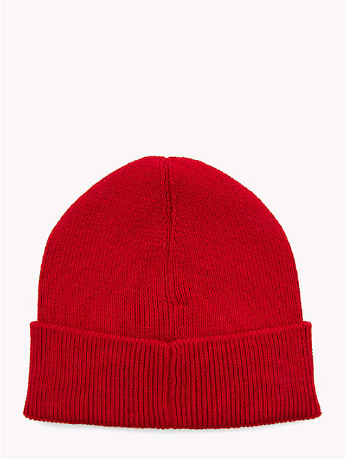 TOMMY HILFIGER Wool Blend Beanie - SALSA RED - TOMMY HILFIGER NEW IN - detail image 1