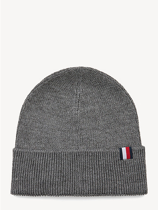 TOMMY HILFIGER Wool Blend Beanie - GREY - TOMMY HILFIGER NEW IN - main image