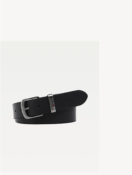 TOMMY JEANS Adjustable Leather Belt - BLACK - TOMMY JEANS Shoes & Accessories - main image
