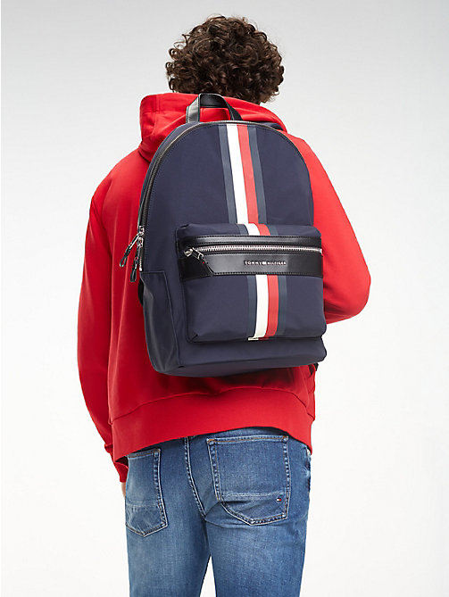 TOMMY HILFIGER Elevated Signature Tape Backpack - TOMMY NAVY - TOMMY HILFIGER Backpacks - detail image 1