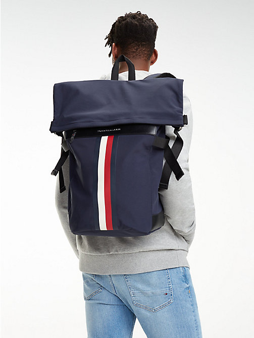 TOMMY HILFIGER Elevated rugzak met roll-top - TOMMY NAVY - TOMMY HILFIGER NIEUW - detail image 1