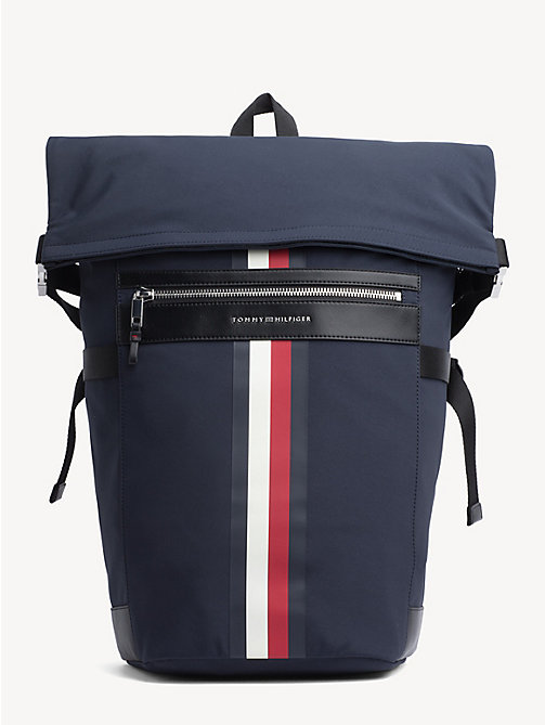 TOMMY HILFIGER Elevated rugzak met roll-top - TOMMY NAVY - TOMMY HILFIGER NIEUW - main image