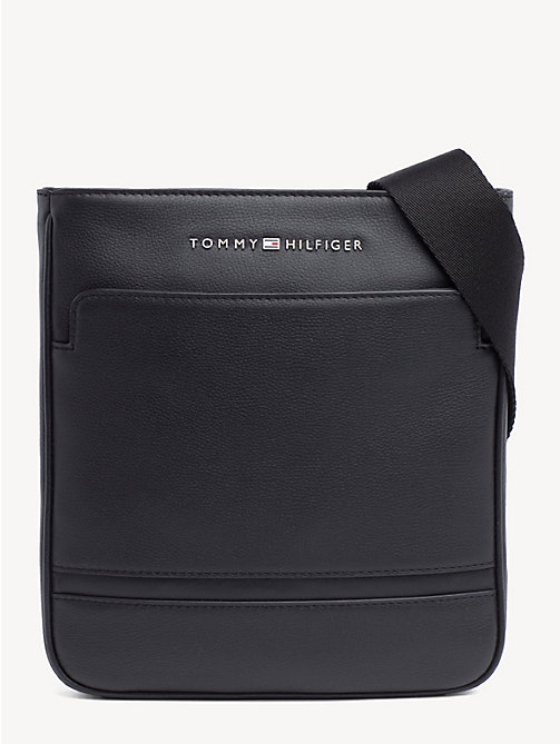 TOMMY HILFIGER Leather Small Cross Body Bag - BLACK - TOMMY HILFIGER Crossbody Bags - main image