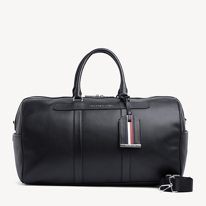 7bbf05be1b54 Elevated Leather Holdall. TOMMY HILFIGER
