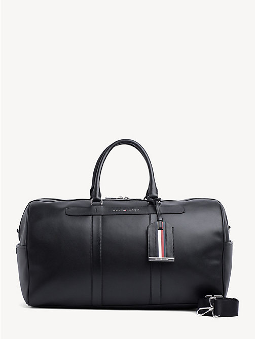TOMMY HILFIGER Elevated leren weekendtas - BLACK - TOMMY HILFIGER Weekendtassen - main image