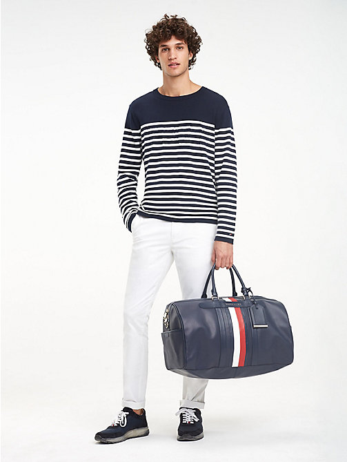 TOMMY HILFIGER Elevated leren weekendtas - TOMMY NAVY - TOMMY HILFIGER Weekendtassen - detail image 1