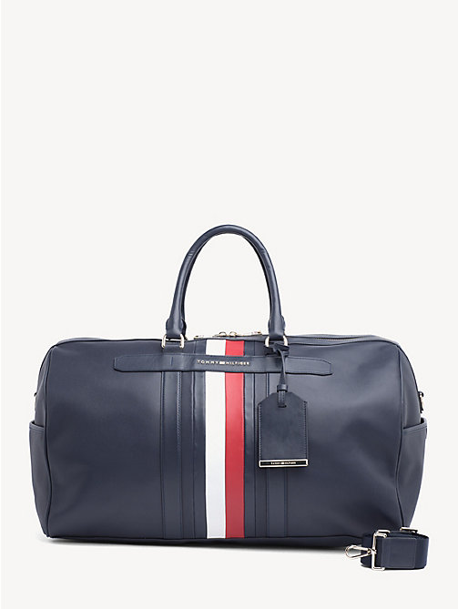 TOMMY HILFIGER Elevated leren weekendtas - TOMMY NAVY - TOMMY HILFIGER Weekendtassen - main image