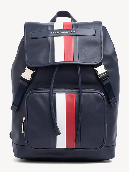 TOMMY HILFIGER Elevated leren signature-rugzak - TOMMY NAVY - TOMMY HILFIGER NIEUW - main image