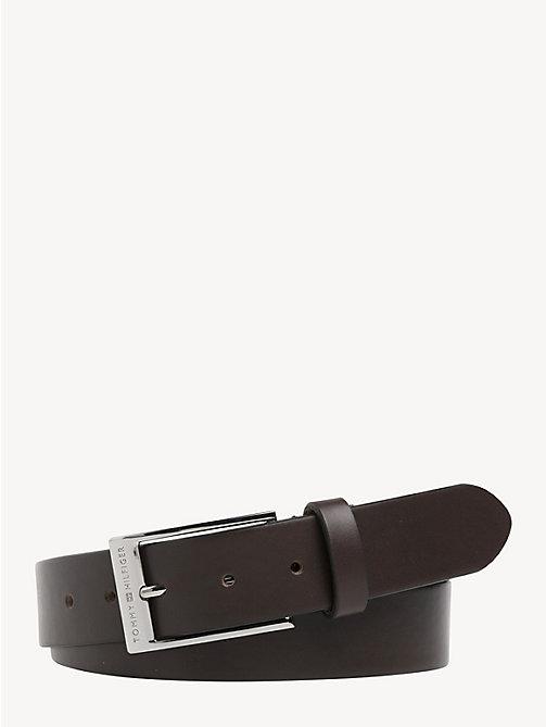 NEW TOMMY HILFIGER Formal Leather Belt - TESTA DI MORO - TOMMY HILFIGER  Belts - main image ... d514f2b6a61