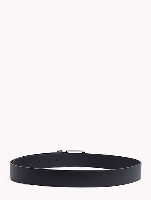 TOMMY HILFIGER Flag Leather Belt - BLACK - TOMMY HILFIGER Belts - detail image 1