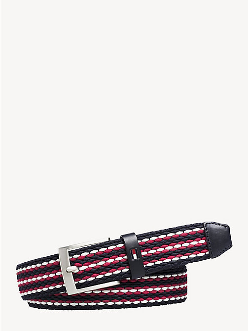 TOMMY HILFIGER Stripe Elastic Belt - CORPORATE MIX - TOMMY HILFIGER Belts - main image