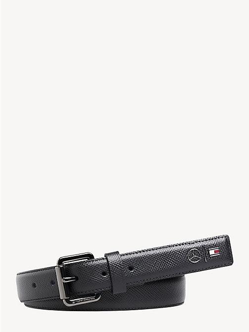 d17f537429d4d5 black mercedes-benz roller buckle belt for men tommy hilfiger