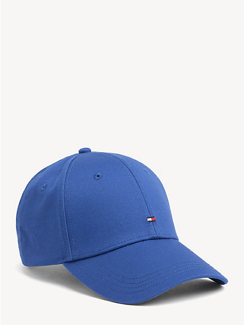 TOMMY HILFIGER Flag Cotton Baseball Cap - MONACO BLUE - TOMMY HILFIGER Caps & Beanies - main image