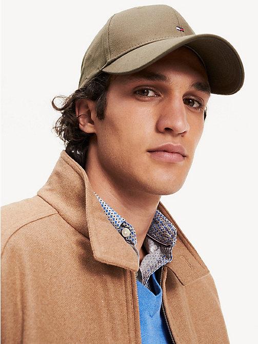 130494b64466e green flag embroidery baseball cap for men tommy hilfiger