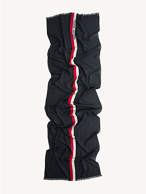 TOMMY HILFIGER Signature Tape Scarf - BLACK - TOMMY HILFIGER Scarves - detail image 1