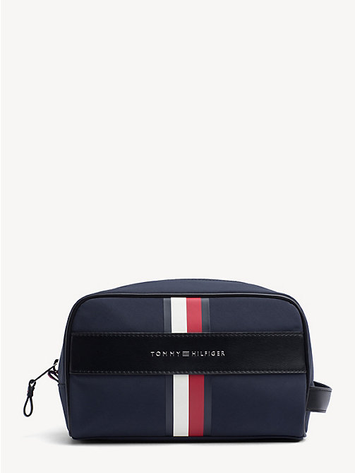 TOMMY HILFIGER Elevated toilettas met signature-streep - TOMMY NAVY - TOMMY HILFIGER Weekendtassen - main image