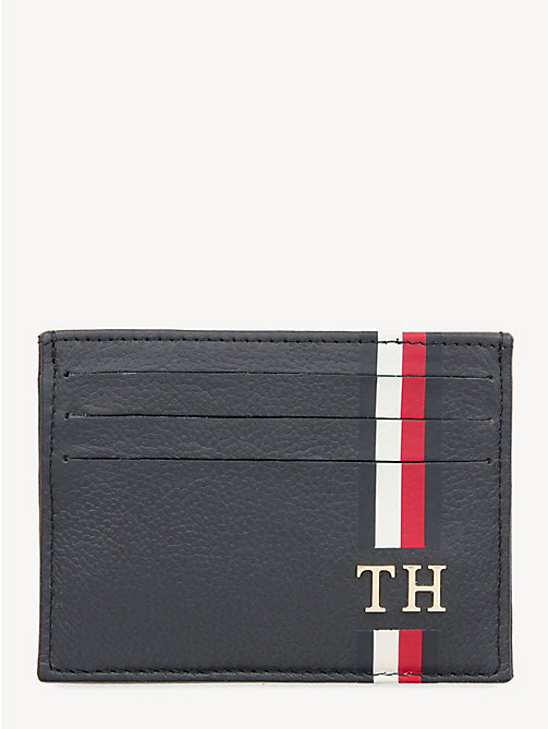 TOMMY HILFIGER Signature Monogram Card Holder - TOMMY NAVY - TOMMY HILFIGER Wallets & Keyrings - main image